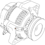 Image used under a Collective Commons License from https://pixabay.com/vectors/aircraft-alternator-engine-motor-148611/